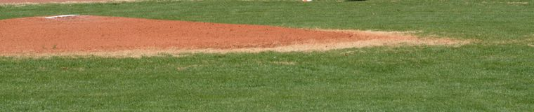 Pitcherhügel vor einem Spiel Lizenzfreies Stockbild