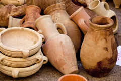 Pitchers and jars of clay Royalty Free Stock Images