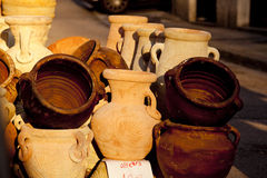 Pitchers and jars of clay Royalty Free Stock Image