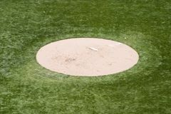 Pitchers Mound. A empty pithers mound stock image