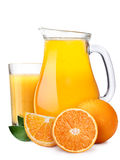 Pitcherwith highball of orange juice Royalty Free Stock Photos