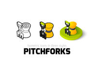 Pitchforks icon in different style Royalty Free Stock Photography