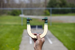 Pitching Horseshoe Stock Images