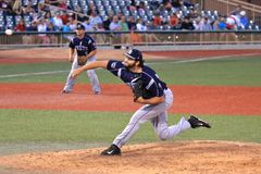 Pitching from the mound Stock Photography