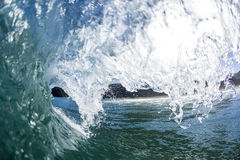 Pitching Wave, North Piha, New Zealand Stock Photo