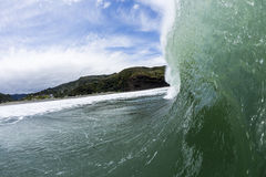 Pitching Wave, South Piha, New Zealand Royalty Free Stock Image