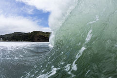 Pitching Wave, South Piha, New Zealand Stock Images