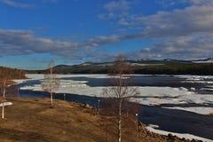 Piteälven em Norrbotten Fotos de Stock Royalty Free