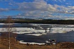 Piteälven em Norrbotten Fotografia de Stock