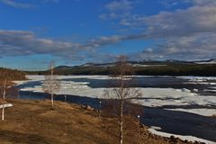 Piteälven w Norrbotten Zdjęcia Royalty Free