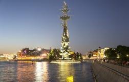 Piter pragnienie zabytek, Moskow, Rosja przy nocą Obrazy Royalty Free