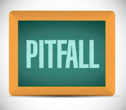 Pitfall board sign illustration design Royalty Free Stock Photos