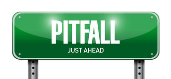 pitfall road sign illustration design royalty free stock photos
