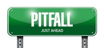 Pitfall road sign illustration design Royalty Free Stock Photos