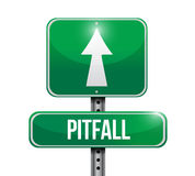 Pitfall street sign illustration design Royalty Free Stock Photo