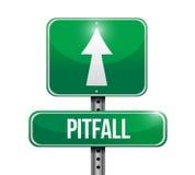 pitfall street sign illustration design Royalty Free Stock Photo