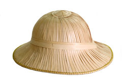 Pith Helmet. Isolated on white background stock images