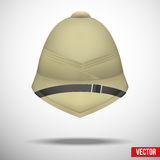 Pith helmet hat for safari or explorer vector Stock Image