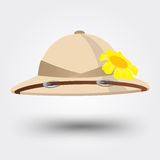 Pith helmet hat for safari Stock Photo