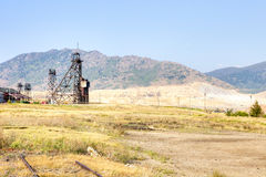 Pithead. Old pithead, and strip mine Royalty Free Stock Image