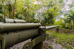 Piti Gun located in the jungle above Asan beach in Guam Royalty Free Stock Photography