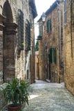 Piticchio (Marsen, Italië) Stock Foto