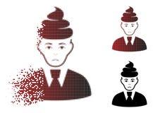 Unhappy Dissolved Pixel Halftone Shit Guy Icon royalty free illustration