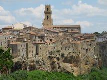Pitigliano. Tuscan town of pitigliano tuff Stock Photos