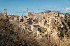 Pitigliano Cidade velha na província de Grosseto, Itália Fotos de Stock