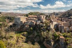 Pitigliano Cidade velha na província de Grosseto, Itália Foto de Stock Royalty Free