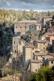 Pitigliano Cidade velha na província de Grosseto, Itália Imagens de Stock Royalty Free
