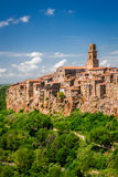 Pitigliano city on the cliff Royalty Free Stock Image