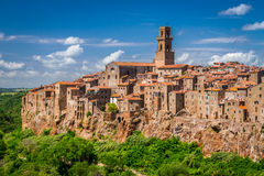 Pitigliano city on the cliff, Italy Royalty Free Stock Image