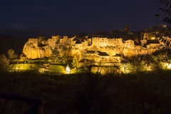 Pitigliano city on the cliff in summer, Italy Royalty Free Stock Photography