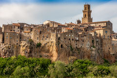 Pitigliano city on the cliff, Tuscany, Italy Royalty Free Stock Photos