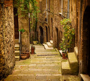 Pitigliano city street Royalty Free Stock Photos