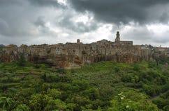 Pitigliano cloudy Stock Image