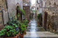 Pitigliano en Toscane en Italie photographie stock libre de droits