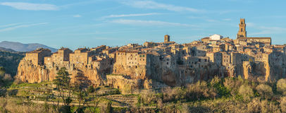 Pitigliano-Etruscan tuff city. Italy Royalty Free Stock Photo