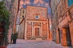 Pitigliano, Grosseto, Tuscany, Italy: church of Santa Maria e Sa Stock Images