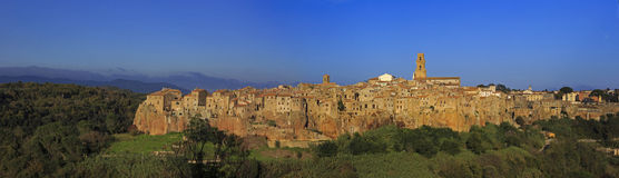 Pitigliano, hilltop town Royalty Free Stock Image