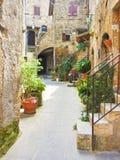 Pitigliano, Italian etruscan and medieval village built of tufa Stock Photo