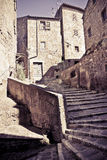 Pitigliano, Italian etruscan and medieval village built of tufa Stock Images