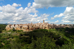 Pitigliano in Italy. Medieval village in Tuscany, Italy: Pitigliano Stock Photography