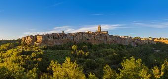 Pitigliano medieval town in Tuscany Italy Royalty Free Stock Photo