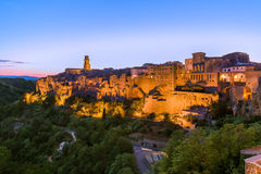 Pitigliano medieval town in Tuscany Italy Stock Photo