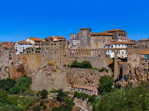 Pitigliano medieval town in Tuscany Italy. Architecture background Stock Photography