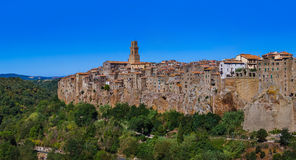 Pitigliano medieval town in Tuscany Italy Royalty Free Stock Photos