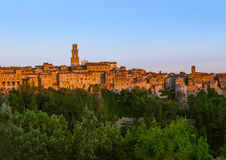 Pitigliano medieval town in Tuscany Italy. Architecture background stock images