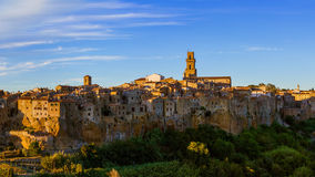 Pitigliano medieval town in Tuscany Italy Royalty Free Stock Photography